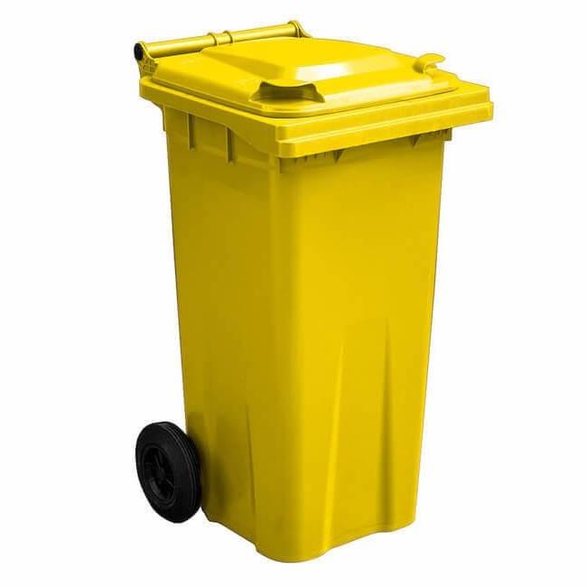 120 Litre Yellow Wheelie Bin - GWB