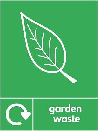 Garden Waste Recycle Sticker
