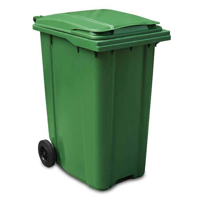 Green 360 Litre Wheelie Bin - Main GWB