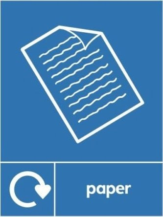 Paper Recycle Sticker