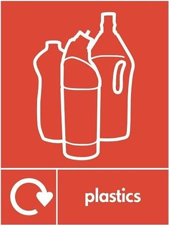 Plastics Recycle Sticker