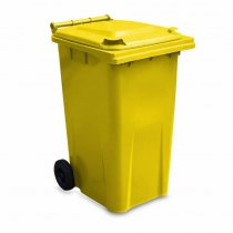Yellow 240 Litre Wheelie Bin