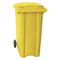 Yellow 360 Litre Wheelie Bin