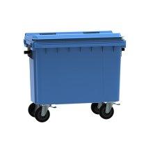 Blue 500 Litre Wheelie Bin