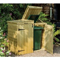 Apex Double Wheelie Bin Store