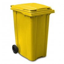Yellow 360 Litre Wheelie Bin - Main GWB