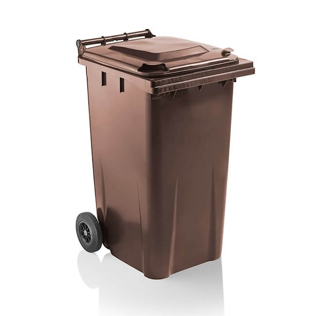 getWheelieBins 240 Litre Brown Wheelie Bin