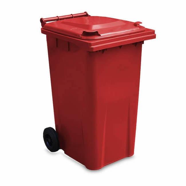 240 Litre Red Wheelie Bin - Main GWB