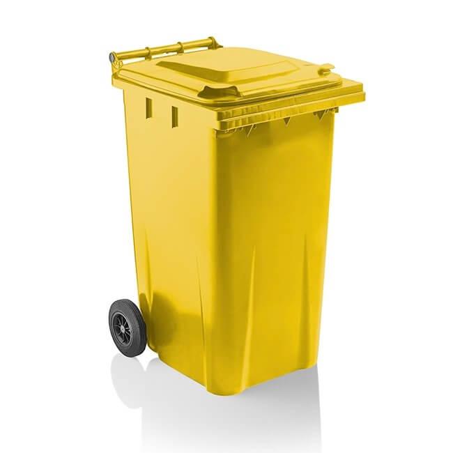 getWheelieBins 240 Litre Yellow Wheelie Bin