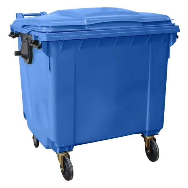 Blue 1100 Litre Wheelie Bin
