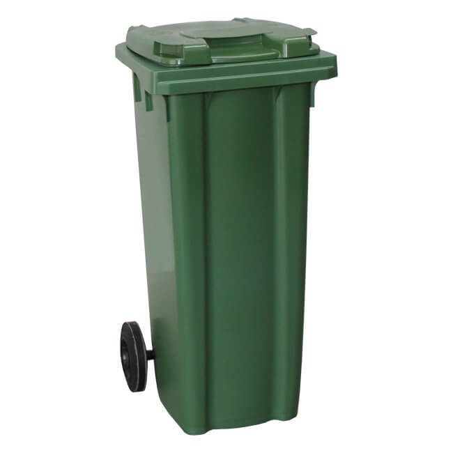 Green 140 Litre Wheelie Bin