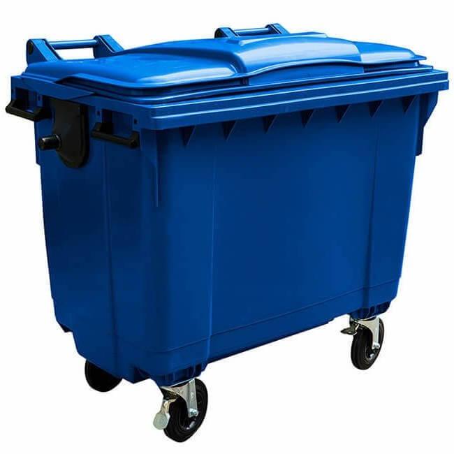 1100 Litre Wheelie Bin Blue - GWB