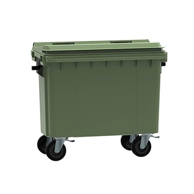 Green 500 Litre Wheelie Bin