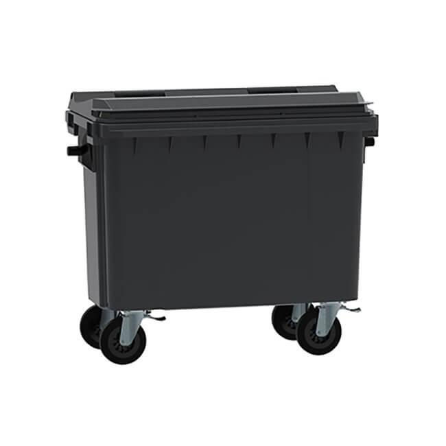 Grey 500 Litre Wheelie Bin