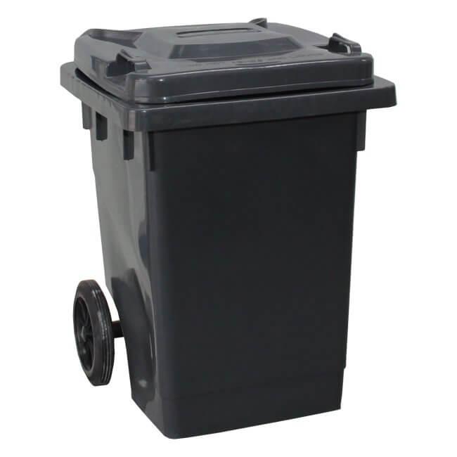 Grey 75 Litre Wheelie Bin