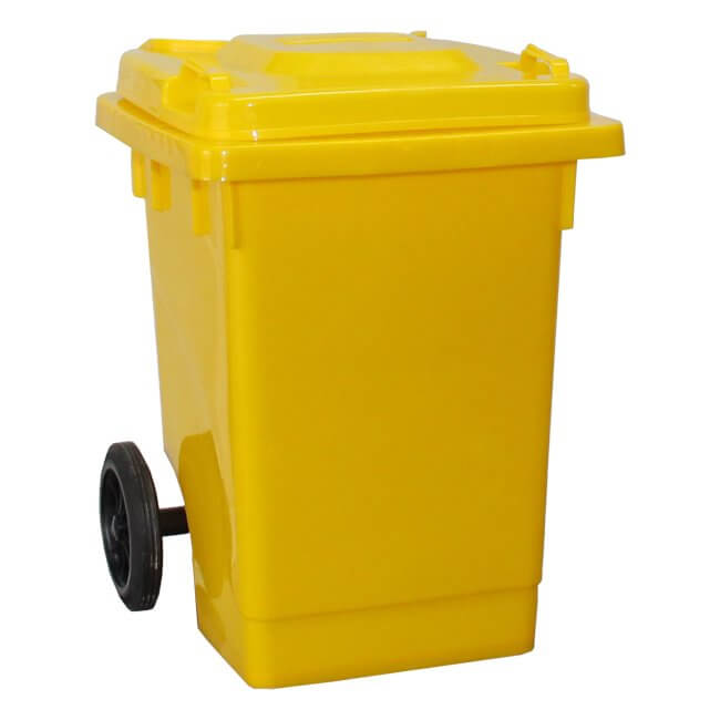Yellow 75 Litre Wheelie Bin
