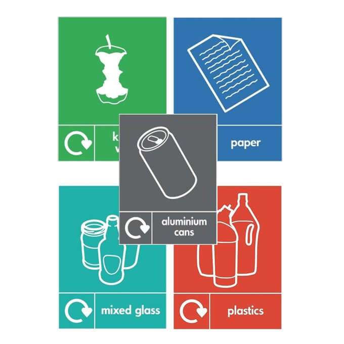Wheelie bin recycle stickers