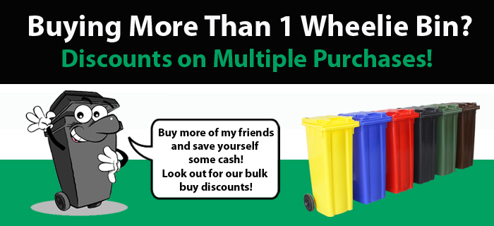 Great discount on multiple purchases of Wheelie Bins!