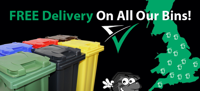 Free Delivery On All Our Wheelie Bins!