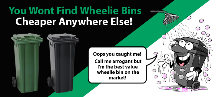 Lowest Priced Wheelie Bins on the Web!